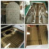 201 304 316 Elevator Decoration를 위한 430의 미러 Etching TI Gold Stainless Steel Sheets