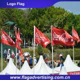 bandeira feita sob encomenda da impressão da tela do poliéster 110g, bandeira do logotipo, bandeira do vento