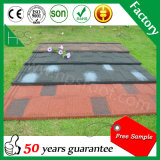 Amostra livre 50 anos de telhas de telhadura de aço revestidas da pedra da garantia