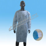 Wegwerfbares PE/PP+PE/CPE/SMS/PP Surgical Gown/Isolation Gown für Lab Workers