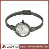 Relógio de venda quente simples mas agradável do aço inoxidável da senhora Quartzo Todo