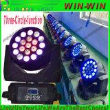 Lumière mobile 19X12W de lavage de zoom de RGBW DEL