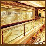 階段(SJ-611)のためのステンレス鋼そして木ガラス手すり/