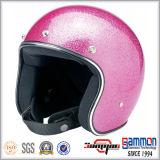 환상적인 Paillette 열리는 마스크 Harley 기관자전차 헬멧 (OP237가)