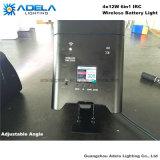 de Draadloze Batterij Lichte Uplight van 4X12W 6in1 Irc