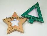 Caixa de embalagem do presente da forma do Pentacle do Natal do papel do ouro Jy-GB12