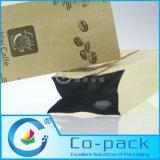 Papel Kraft Embalagem Side Gusset Zip-Lock / Zipper Válvula Saco de café
