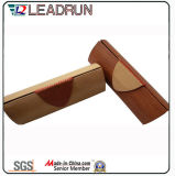 Vidrio de Sun unisex polarizado plástico de la PC del cabrito del acetato del metal del deporte de Sunglass de la manera del metal de madera de la mujer (GL63)