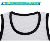Kundenspezifischer Mens-weißes normales Gymnastik-Trägershirt