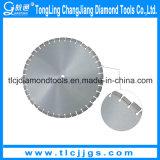 レーザーはぬれたアスファルトダイヤモンドが鋸歯を切断を溶接した