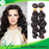 Jungfrau-malaysische Webart des Guangzhou-Aofa unverarbeitete menschliche Haar-100%