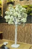 Pequeña pieza central blanca del vector del árbol del flor