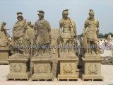 Высекающ каменную мраморный скульптуру статуи ратника для украшения сада (SY-X1310)