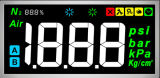 Stn Höhenruder LCD-Bildschirmanzeige mit schwarzem Hintergrund