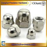 Edelstahl 304 gewölbte Kapselmuttern des Hexagon-A2-70, Eichel-Muttern