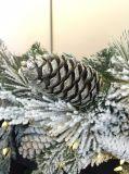 Albero di Natale e corona dello Snowy con illuminazione (fabbrica diretta per l'OEM)