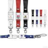 USB Flash Drive, USB Pen Drive del acollador de 2G Rope Belt Laniard