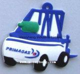 Venda por atacado de borracha feita sob encomenda do PVC Keychain do plástico de Keychain dos presentes relativos à promoção