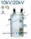 trasformatore di distribuzione montato Palo di monofase di serie 10kv/20kv del DH 100kVA