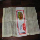 Saco líquido L-Sewing branco do engranzamento para o alho da embalagem