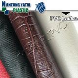 Couro do falso da matéria- prima do PVC da alta qualidade para a bagagem