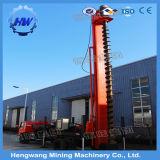 回転式杭打ち機の抗打ち工事機械訓練