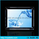 Cadre léger en cristal parlant acrylique de ventes chaudes