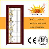Porta de alumínio do vidro geado do projeto das portas do quarto