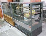 Vier Schichten Edelstahl-Gebäck-Bildschirmanzeige gekühlte kühlere Schaukasten-