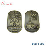 浮彫りにされた3D Design Bronze Color Dog Tag Custom