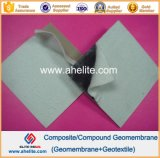 géotextiles Heated du Nonwoven 400GSM de revêtement de Geomembrnae de HDPE de 2.0mm