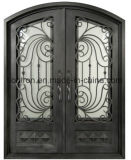 Niedrigerer Preis-Eisen-Eintrag-Tür-antike vordere Eisen-Bronzetüren