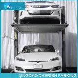 Overground/sous terre levage de stationnement de véhicule de Duel-Cylindre pour la maison
