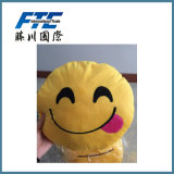 Polyester comodo Plush Decorative Emoji Pillows in Yellow