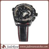 Relógio da promoção do relógio do couro genuíno do relógio de 2016 homens do esporte (RS1217)