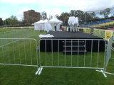 Горячая окунутая гальванизированная загородка барьера управлением толпы портативная обшивает панелями 1090mm x 2500mm для рынка Европ