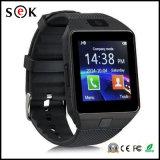 2017 SIMのカードが付いている高品質の熱い販売の卸し売りDz09スマートな腕時計、スマートな腕時計Dz09および携帯電話のためのカメラ