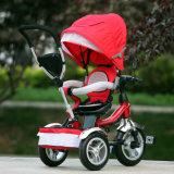 2015人の高品質の傘のおおいの子供の三輪車(OKM-669)