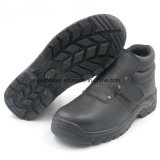 Zapatos de seguridad de acero de la punta del cuero genuino para el trabajador del soldador