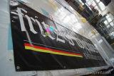 Grandi doppie bandiere chiare durevoli esterne del PVC della visualizzazione della fiera commerciale della stampa