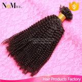 Extensões Kinky 110g/Lot do cabelo da queratina da ponta do prego U do cabelo Curly do Afro brasileiro das extensões do cabelo humano da fusão