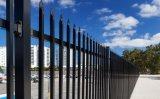 Garnison-Zaun täfelt 2100mm x 2400mm elektrostatisches Puder das beschichtete Schwarze