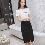 La falda del invierno de las mujeres más cadera de lana del conjunto de los colores de la talla 3 bordea la falda de la elasticidad para las mujeres