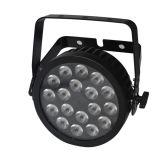 PAR 18X12W RGBWA UV LED 6en1 puede con Powercon, Ruta caso para iluminación de la etapa, Evento, Disco