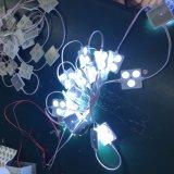 Microplaquetas quadradas do diodo emissor de luz do módulo 3 da injeção com o diodo emissor de luz branco da lente SMD