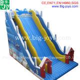 Grande glissière d'eau gonflable de parc d'attractions à vendre (DJWSMD8000021)