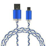 5V 2Aは充満同期信号USBケーブルiPhoneの携帯電話のためのLEDライトが付いている絶食する