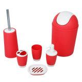 Jnzt-02 Houseware en van het Huis de Plastic Toebehoren en de Reeksen van het Bad van Zes Stukken met Voorraad 500PCS een Kleur