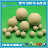Bolas de cerámica inertes del alúmina de Al2O3 el 15~22% para la torre de la desgasificación del CO2