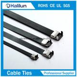 Anchura 12.7m m 15m m L tipo ataduras de cables del bloqueo del metal